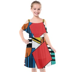 Design 9 Kids  Cut Out Shoulders Chiffon Dress by TajahOlsonDesigns