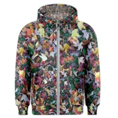 Fallen Fall Leaves In Vermontmen s Zipper Hoodie