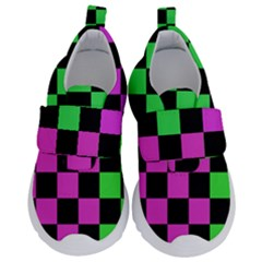 Checkerboard Again 1a Kids  Velcro No Lace Shoes by impacteesstreetwearseven