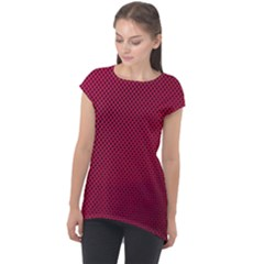 Anything You Want  Red Cap Sleeve High Low Top