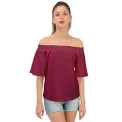 Anything You Want -red Off Shoulder Short Sleeve Top