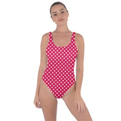 Red With White Polka Dots Bring Sexy Back Swimsuit by VeataAtticus