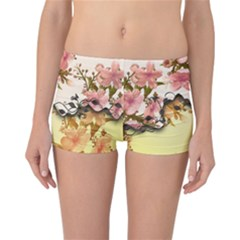 A Touch Of Vintage, Floral Design Reversible Boyleg Bikini Bottoms by FantasyWorld7