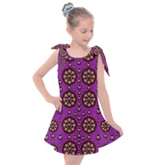 Hearts Of Metal And Flower Wreaths In Love Kids  Tie Up Tunic Dress