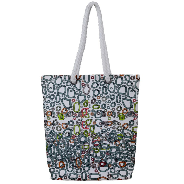 Zappwaits Full Print Rope Handle Tote (Small)