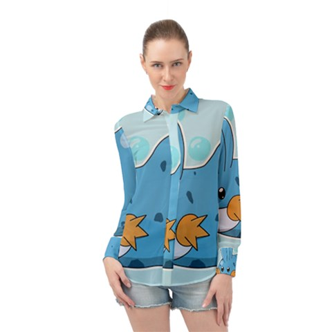 Patokip Long Sleeve Chiffon Shirt by MuddyGamin9