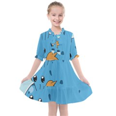 Patokip Kids  All Frills Chiffon Dress by MuddyGamin9