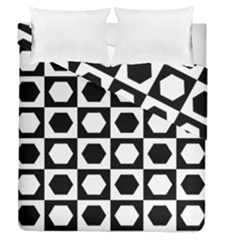 Chessboard Hexagons Squares Duvet Cover Double Side (queen Size)