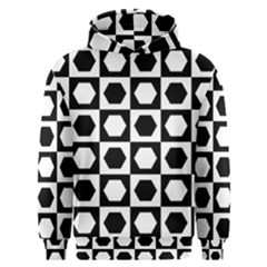 Chessboard Hexagons Squares Men s Overhead Hoodie