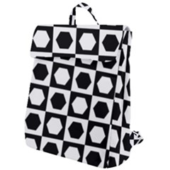Chessboard Hexagons Squares Flap Top Backpack
