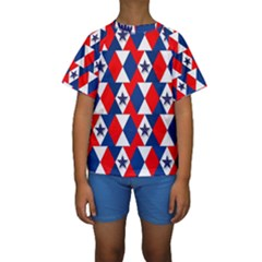 Patriotic Stars Kids  Short Sleeve Swimwear by AnjaniArt