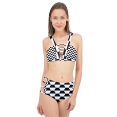 Hexagons Pattern Tessellation Cage Up Bikini Set