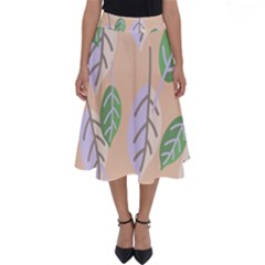 Leaf Pink Perfect Length Midi Skirt