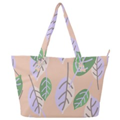 Leaf Pink Full Print Shoulder Bag