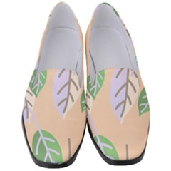 Leaf Pink Women s Classic Loafer Heels