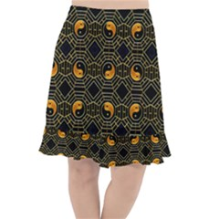 Yin Yang Fishtail Chiffon Skirt