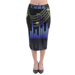 Speakers Music Sound Midi Pencil Skirt