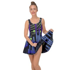 Speakers Music Sound Inside Out Casual Dress