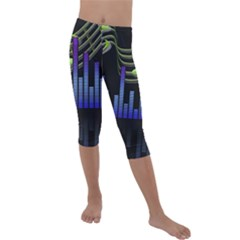 Speakers Music Sound Kids  Lightweight Velour Capri Leggings