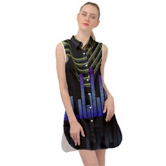 Speakers Music Sound Sleeveless Shirt Dress by HermanTelo