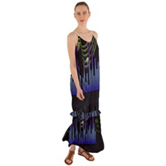 Speakers Music Sound Cami Maxi Ruffle Chiffon Dress