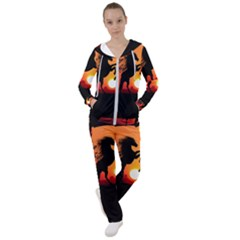 Sunset Horses Shadow Women s Tracksuit