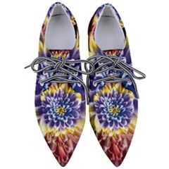 Rainbow Chrysanthemum Pointed Oxford Shoes