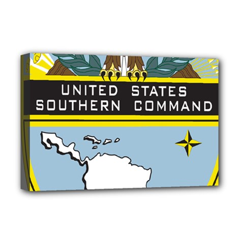 Seal Of United States Southern Command Deluxe Canvas 18  X 12  (stretched) by abbeyz71