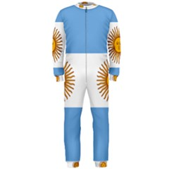 Argentina Flag Onepiece Jumpsuit (men)  by FlagGallery