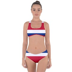 Costa Rica Flag Criss Cross Bikini Set by FlagGallery