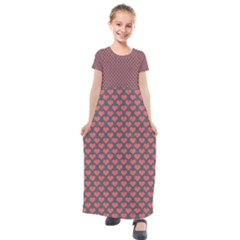 Wallpaper Screen Saver Texture Kids  Short Sleeve Maxi Dress