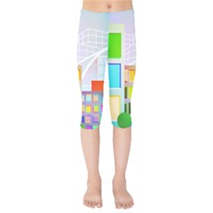 City Modern Business Skyscrapers Kids  Capri Leggings  by Pakrebo