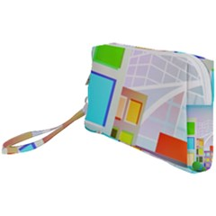 City Modern Business Skyscrapers Wristlet Pouch Bag (small)