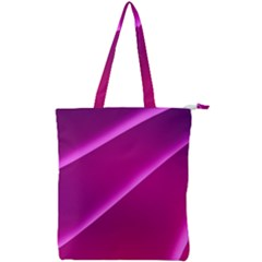 Pattern Purple Design Double Zip Up Tote Bag