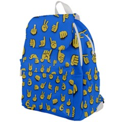 Emojis Hands Fingers Background Top Flap Backpack