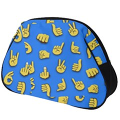 Emojis Hands Fingers Background Full Print Accessory Pouch (big)
