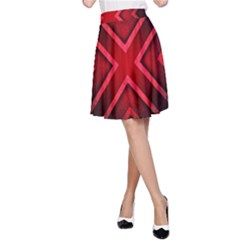Wallpaper Red Abstract A Line Skirt