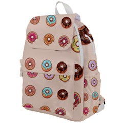 Donut Sweets Baking Food Tasty Top Flap Backpack