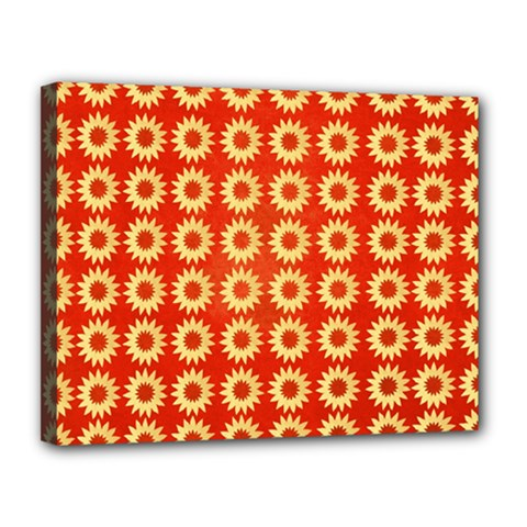 Wallpaper Illustration Pattern Canvas 14  x 11  (Stretched)