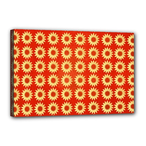 Wallpaper Illustration Pattern Canvas 18  x 12  (Stretched)