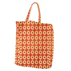 Wallpaper Illustration Pattern Giant Grocery Tote