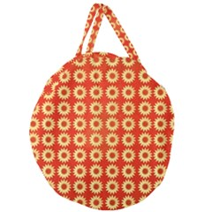 Wallpaper Illustration Pattern Giant Round Zipper Tote