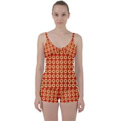 Wallpaper Illustration Pattern Tie Front Two Piece Tankini