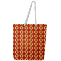 Wallpaper Illustration Pattern Full Print Rope Handle Tote (Large)