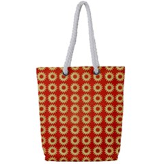Wallpaper Illustration Pattern Full Print Rope Handle Tote (Small)