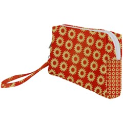Wallpaper Illustration Pattern Wristlet Pouch Bag (small)