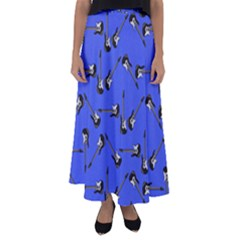 Guitar Instruments Music Rock Flared Maxi Skirt