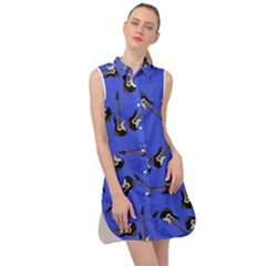 Guitar Instruments Music Rock Sleeveless Shirt Dress