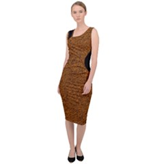 Tiger Safari Patch Sleeveless Pencil Dress