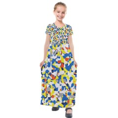 Pop Art Camouflage 2 Kids  Short Sleeve Maxi Dress by impacteesstreetweareight